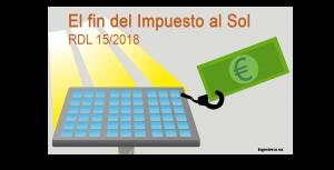 El fin del Impuesto al Sol